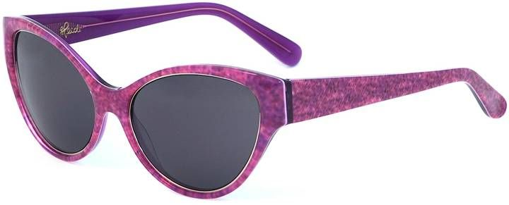 Heidi London - Denim Print Cateye Sunglasses Fuchsia