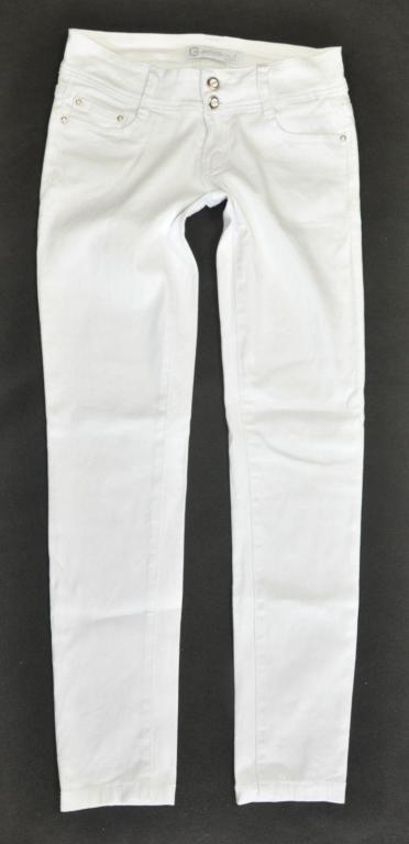 GOODJES JEANS spodnie jeansowe BIAŁE rurki  38 M
