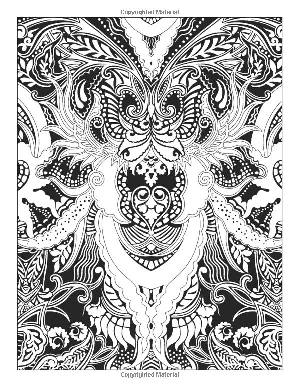 Fantastical Designs Coloring Book 18 Fun See How Colors Play Together Creative Ideas Paula Nadelstern 9781607059356 Books
