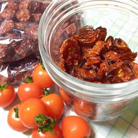 ふらむーんの気まぐれblog : ミニトマトを大量に頂いたのでドライトマトにした♪