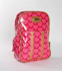 Fun, beautiful Thandana Kiddies Backpack shades of pink in color with a heart motive. Shop @ www.wave2africa.com