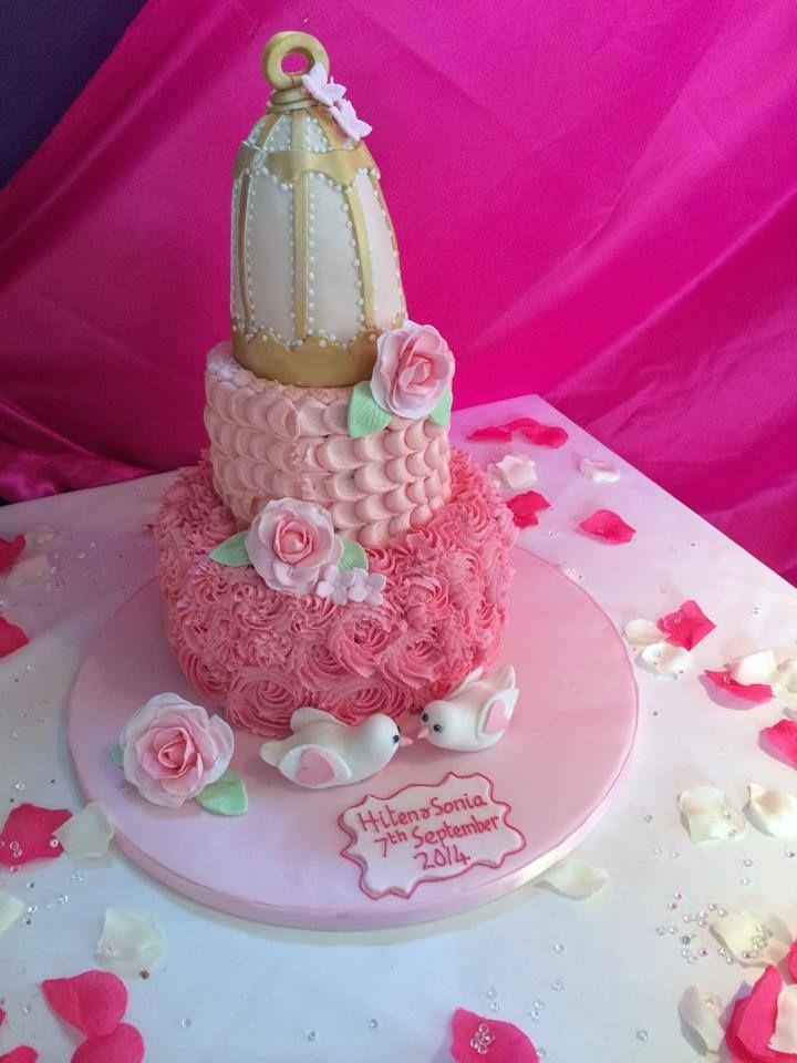 Wedding cake at Chutney Ivy restaurant...