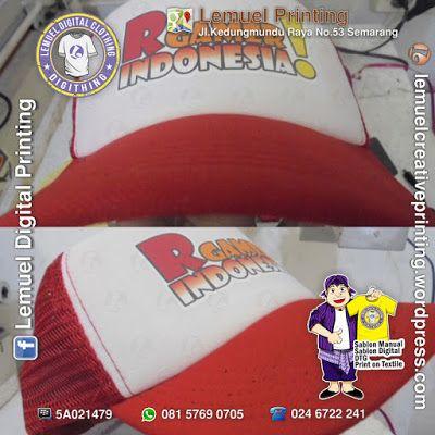 Custom Sablon Topi Satuan Berkualitas Dengan Desainmu Sendiri By DIGITHING