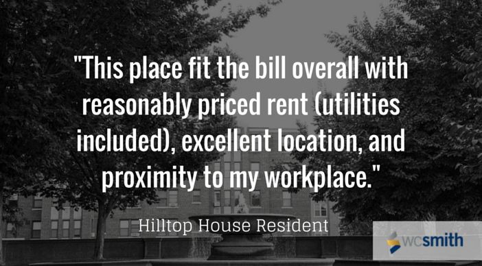 """""""This place fit the bill overall with reasonable priced rent (utilities included), excellent location and proximity to my workplace.""""  
