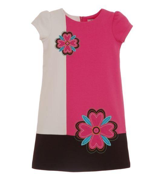 Applique Colorblock Knit Dress