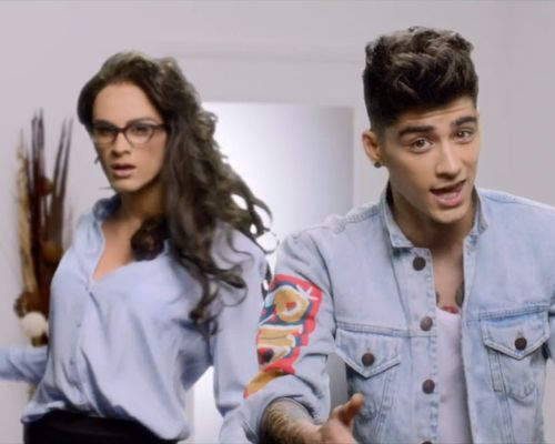 I love Zayn's jean jacket in the Best Song Ever music video