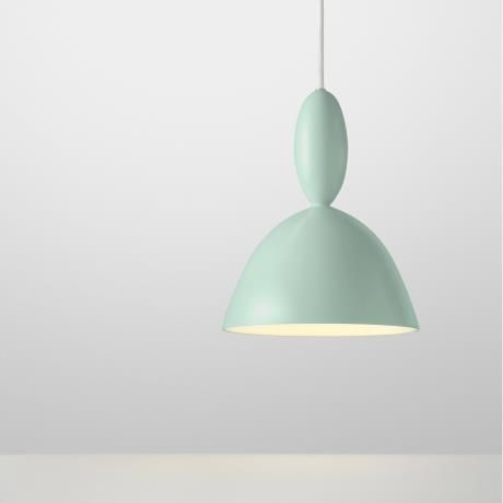 MHY chandelier, light green