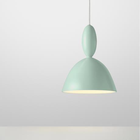 MHY chandelier, light green
