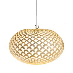 Amity & Phil's Lights in Hallway - Coco Fish Scale Pendant - The Block Shop - Channel 9