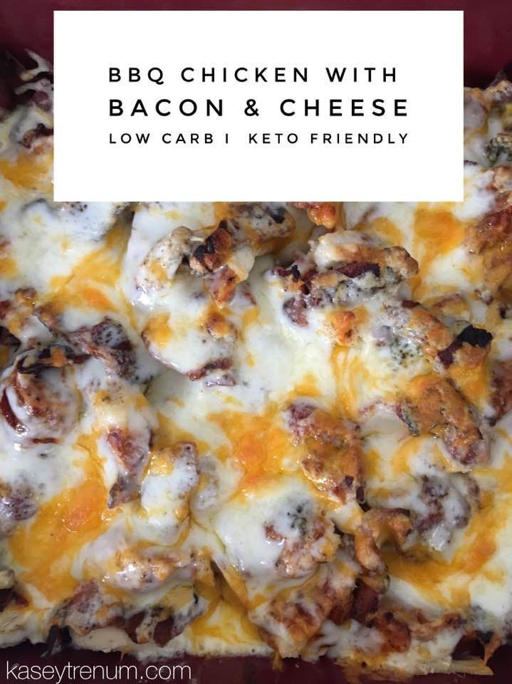 Super easy BBQ Chicken with Bacon & Cheese keto / ketogenic / ketogenic recipe / low carb /slow cooker / crock pot /