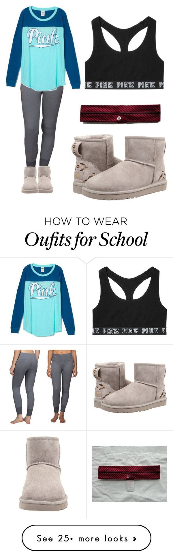 """School"" by lmmtwin on Polyvore featuring lululemon, UGG Australia and Victoria's Secret"