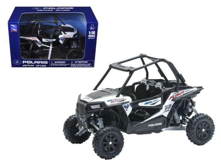 Polaris RZR XP 1000 Dune Buggy 1/18 Model by New Ray - Made of diecast with some plastic parts. Detailed interior, exterior. Dimensions approximately L-6.5, W-3, H-4 inches. Polaris RZR XP 1000 Dune Buggy 1/18 Model by New Ray. Please note that manufacturer may change packing box at anytime. Product will stay exactly the same.-Weight: 1. Height: 5. Width: 9. Box Weight: 1. Box Width: 9. Box Height: 5. Box Depth: 5