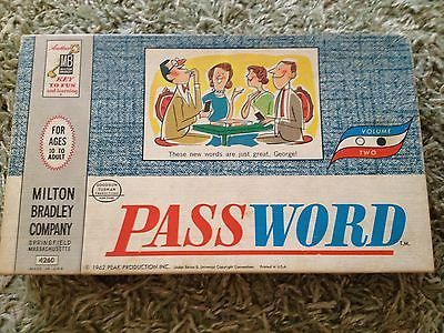 Remember this game?  Vintage Password Game by Milton Bradley Board Game Toy 60's 70's RARE | eBay