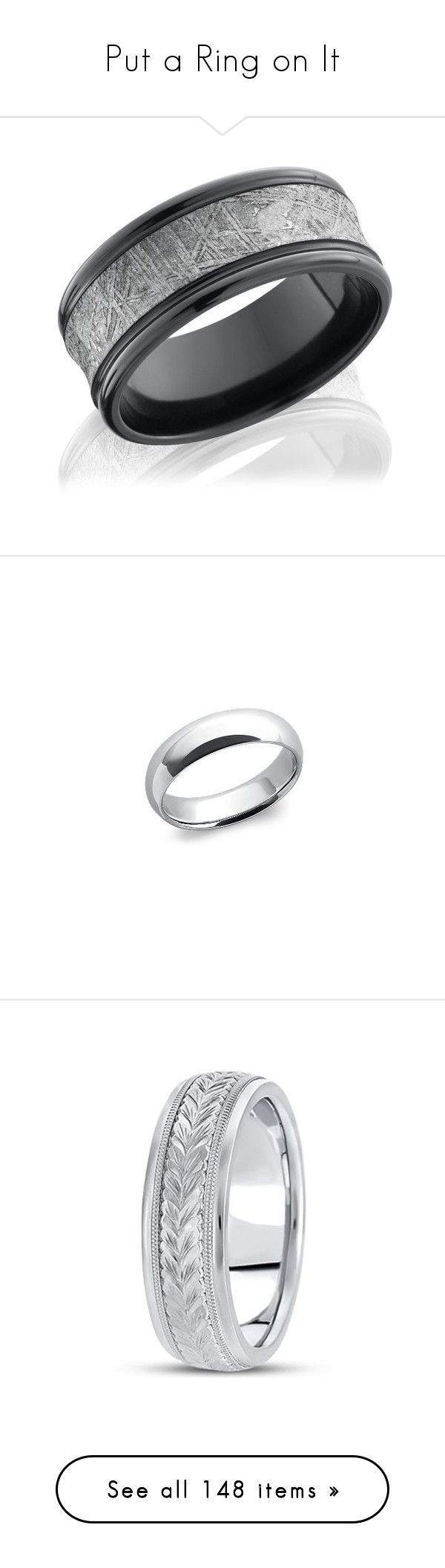 """""""Put a Ring on It"""" by xochrissixo ❤ liked on Polyvore featuring men's fashion, men's jewelry, men's rings, mens band rings, mens wedding rings, mens rings, mens diamond band wedding ring, mens platinum rings, mens platinum wedding rings and mens watches jewelry"""