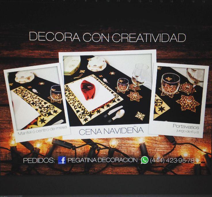 DECORA CON CREATIVIDAD ESTA NAVIDAD! #diseño #lasercut #portavasos #mantelesocentrosdemesa #navidad #creaciones #decoracion by pegatina_deco