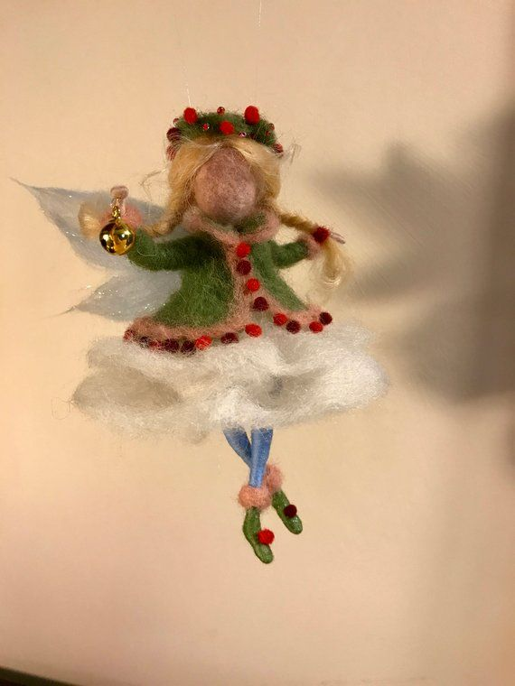 Needle Felted Angel Waldorf Inspired Wool Fairy Christmas Etsy