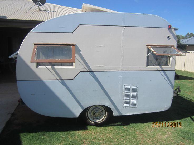 10ft cutie....Australian vintage 50s Bondwood Caravan.  Craftsman Built By V.A. Campbell & Co