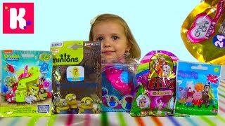 Смотреть онлайн видео Ароматные капкейки кукла Свинка Пеппа Спанч Боб сюрпризы с игрушками распаковка surprise unboxing