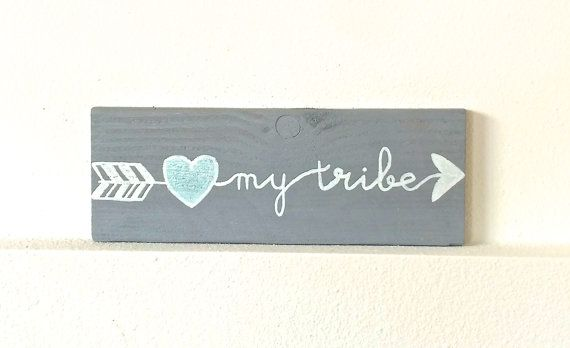 Love my tribe rustic sign tribe sign arrow by THERUSTICBEACHHOUSE