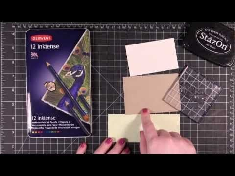 Quick Tip - Derwent Inktense Pencils - YouTube. Use Stazon with these as well as watercolors.