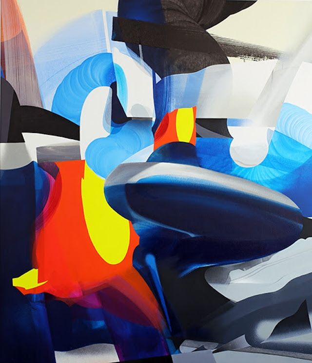 Former German Graffiti Artist Creates Self-Reflective Abstract Paintings  – Style potential