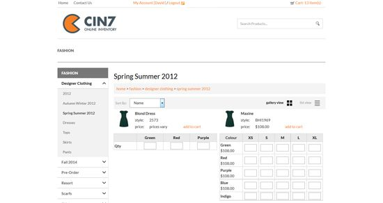 Product ordering grid. Buy and sell in different units - Wholesale B2B Cin7