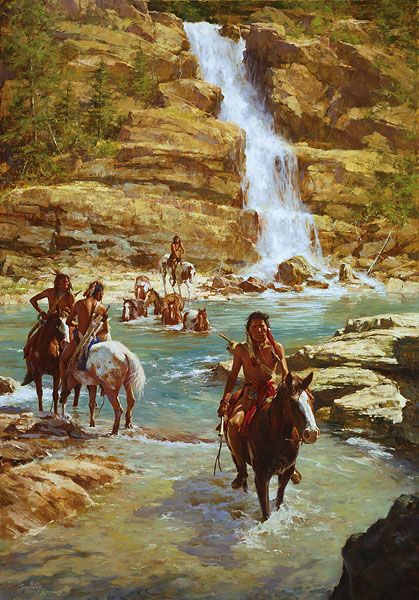 """Vanishing Pony Tracks"" by Howard Terpning, 46x32 - $895.00"