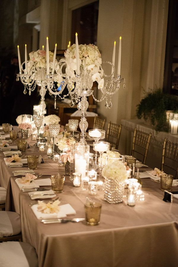 wedding table decor with candles four seasons las vegas wedding table decor by naakiti 1170