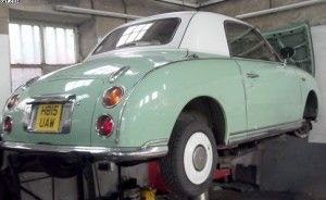 Nissan Figaro a popular car here in the UK#carservicing
