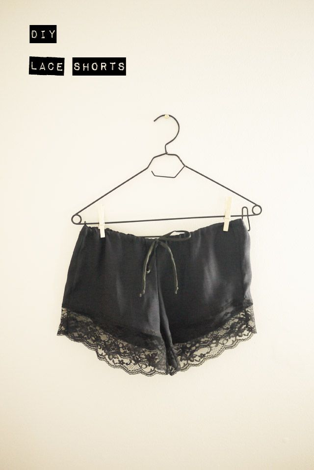 DIY Project - lace shorts - DIY Style