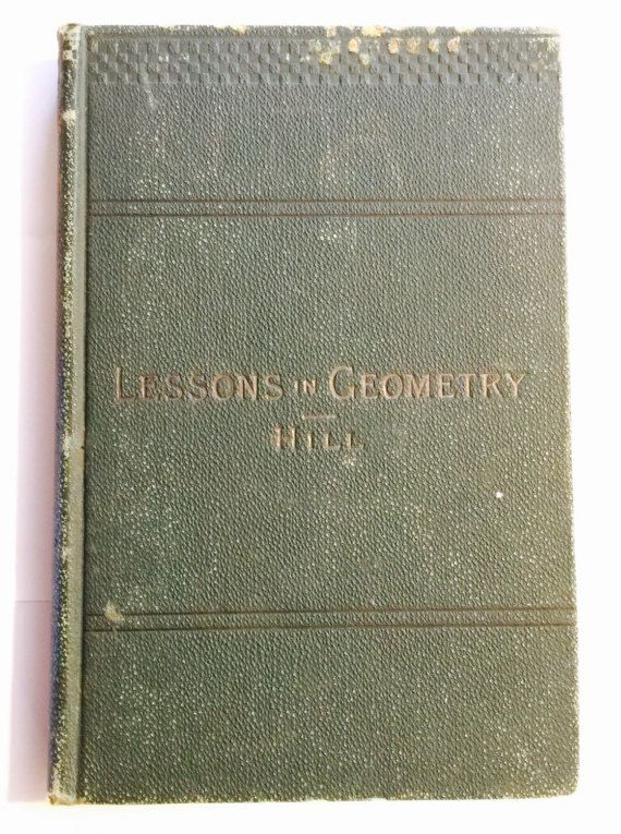 Lessons In GEOMETRY, for the BEGINNERS Antique Book 1891c by thriftnstyle. Explore more products on http://thriftnstyle.etsy.com