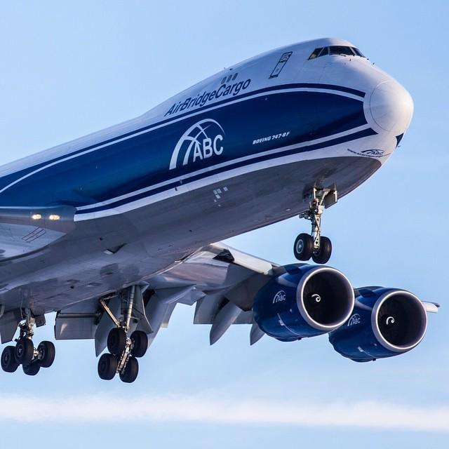 Air Bridge Cargo Airlines Boeing 747-8 freighter (VQ-BRJ) at Sheremetyevo Airport