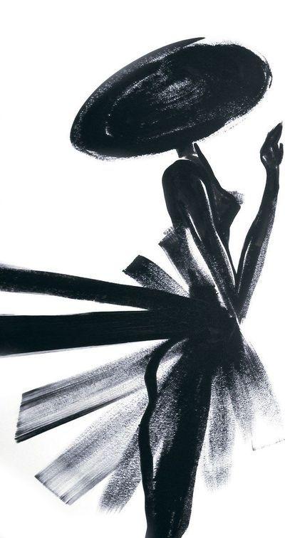 """Dessin de Kuntzel+Deygas, base de la publicité sur écrans de """"La Petite Robe noire""""."""