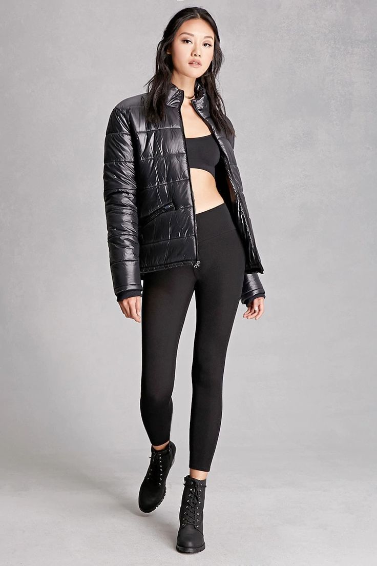 A pair of knit leggings featuring a high-waisted fit with an elasticized band. This is an independent brand and not a Forever 21 branded item.