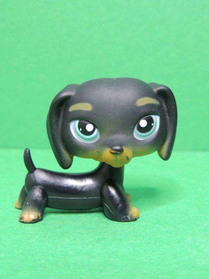 #325 chien Teckel Basset noir black dachshund dog LPS Littlest Pet Shop Figure