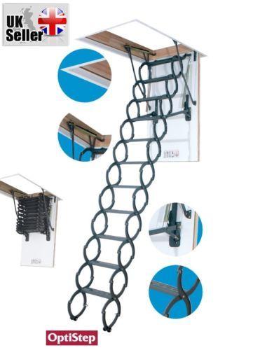optistep ost metal scissors loft ladder insulated frame 50cm x 80cm