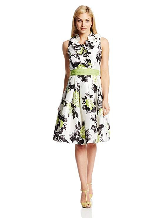 a1c2caa42a1c Jessica Howard Women's Petite Ruffle-Neck Wrap Dress with Tie Sash at Amazon  Women's Clothing store: