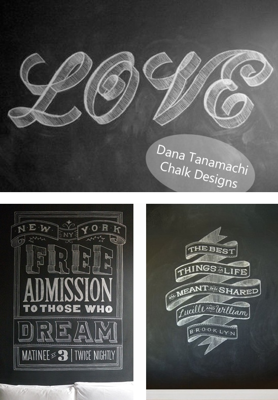 Meant for a Moment Designs: Dana Tanamachi, Chalkboard Designs {wowey}