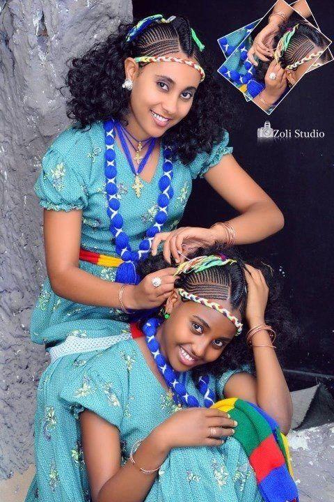 Habesha Girls Ethiopian Braids Ethiopian Beauty Ethiopian Hair