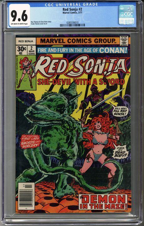 Red Sonja #2 CGC 9.6