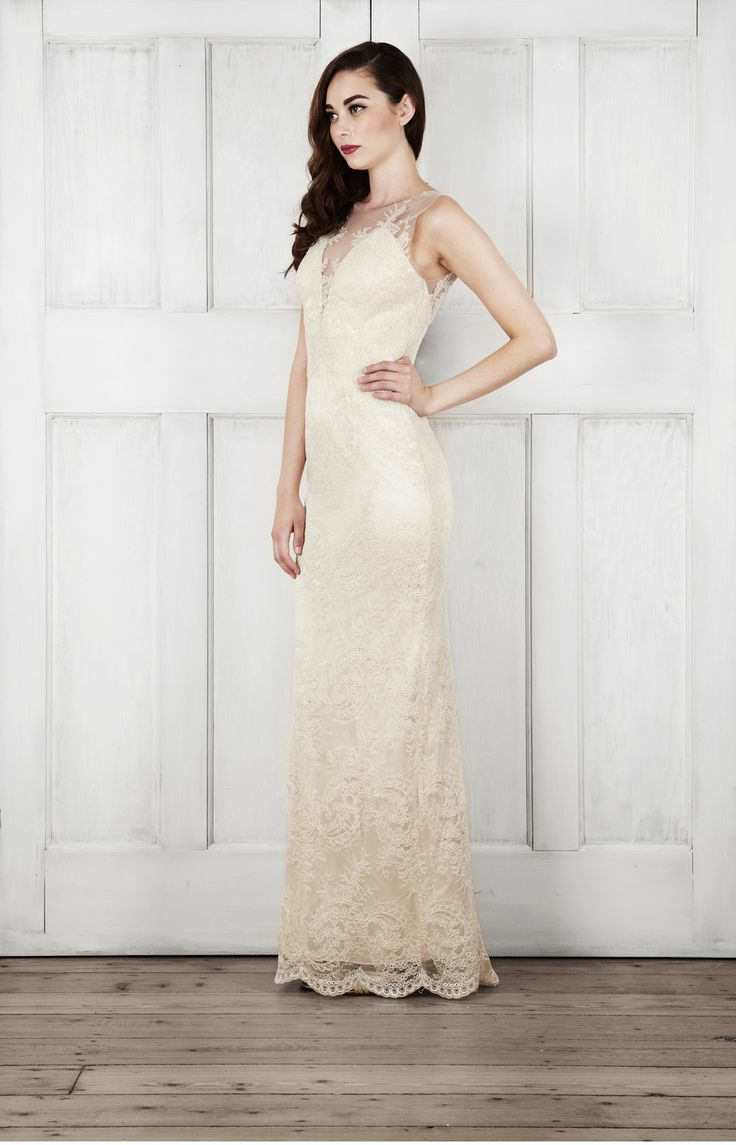 "Catherine Deane ""Yasmin"" gown available at Carrie Karibo Bridal Cincinnati, Ohio www.carriekaribobridal.com"