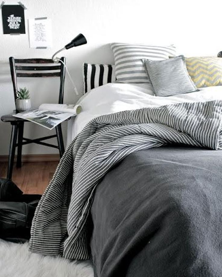 Redesign Your Bedroom With Stylish Scandinavian Style Contemporary Bedding Set Ideas Also Black Metal Bedside