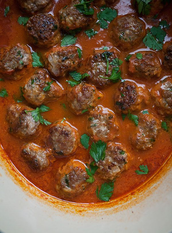 Harissa Lamb Meatballs recipe from PBS Food. Cooking with harissa is like travelling again to Tunisia. I love that country and its cuisine.