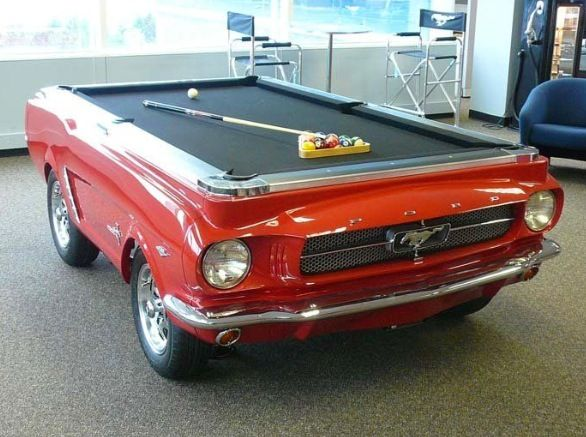 Recycled Mustang Pool Table. Only West End Salvage could do this!