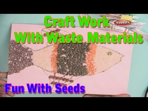 Try making a mosaic with seeds or nuts!