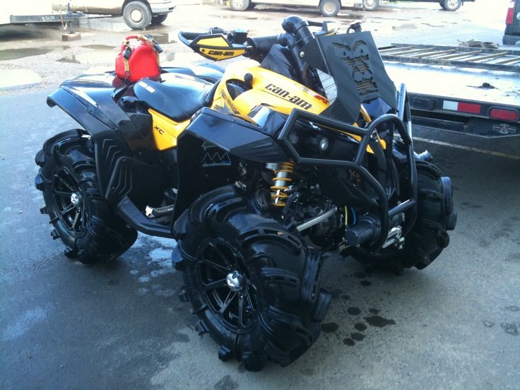 Can-am Renegade 1000 XXC-- Dang, look at those tires plus notice they engine intake and systems are moved higher to allow for almost under-water mud running!