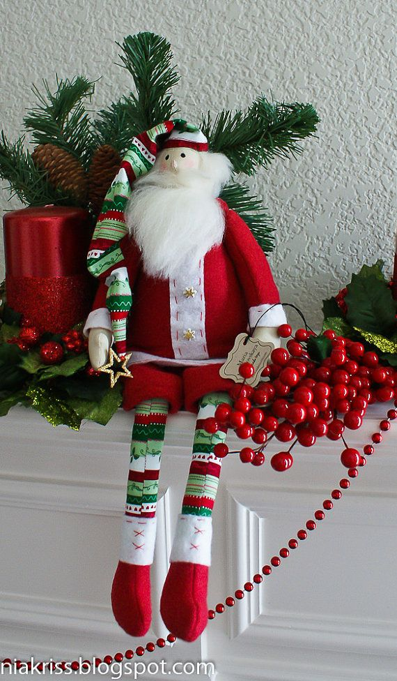 Fabric doll 'Santa Claus' by niakriss on Etsy