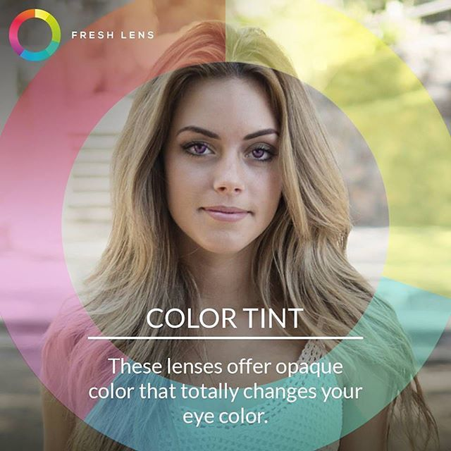 Add a tint of your favorite color to your #eyes using #coloredcontacts.