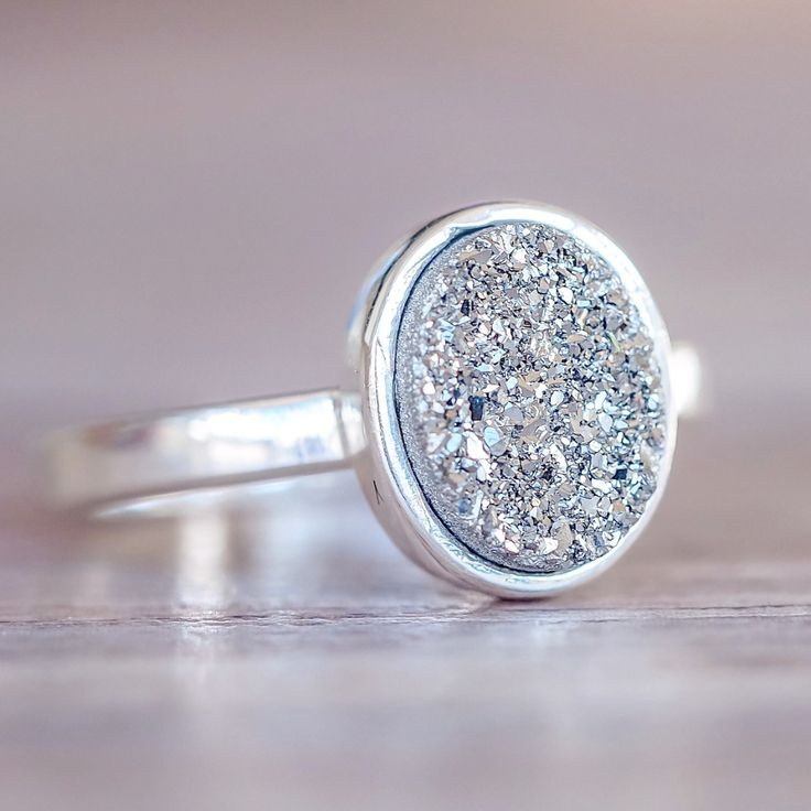 Charcoal Druzy Ring | Bohemian Gypsy Jewelry by Indie and Harper – www.indieandharper.com