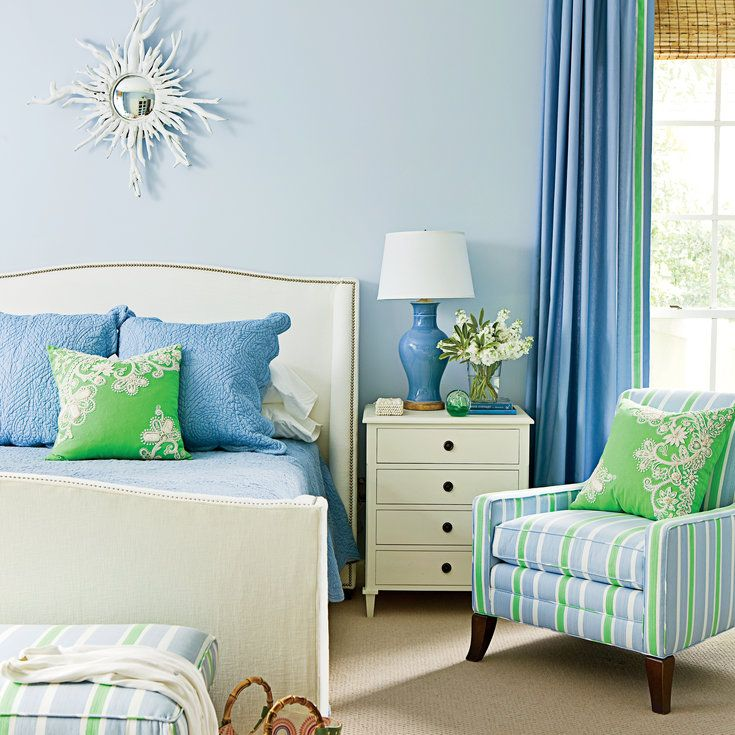 Pick a Bright Color Pairing - Ideas for Blue Bedrooms - Coastal Living